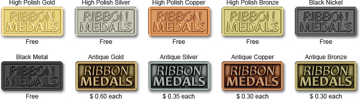 Custom Medals Finish Options